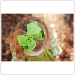 6 inch Solid Color Alligator Clip Hair Bow Sassy Girl