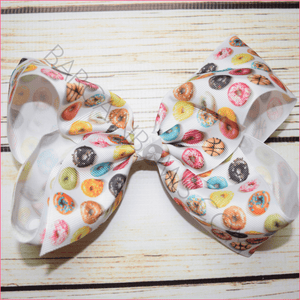 7 inch Donuts Galore Bow, hair bows BargainBows