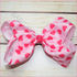 7 inch Hot Pink Hearts Bow