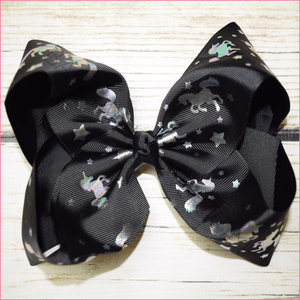 7 inch Iridescent Unicorn Bow, hair bows BargainBows