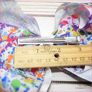 7 inch Paint Splatter Bow, hair bows BargainBows