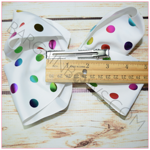 7 inch Polka Dotted Bow