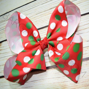 7 inch Polka Dot Christmas Bow