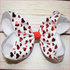 7 inch Red Foil Hearts Bow