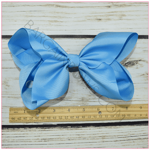 8 inch Solid Color Hair Bow- Barrette Clip, hair bows BargainBows