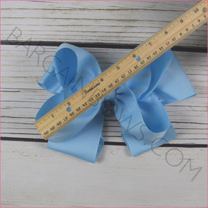 8 inch Solid Color Hair Bow -Alligator Clips