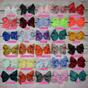 8 inch Solid Color Hair Bow -Alligator Clips, hair bows BargainBows