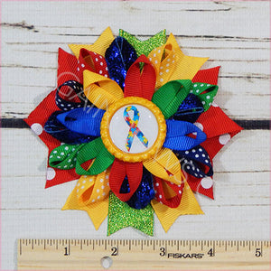 Autism Awareness Boutique Bow