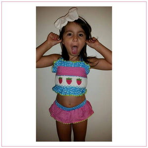Strawberry Smocked Bikini