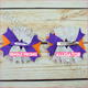 Birthday Girl Purple Ribbon Boutique Bow