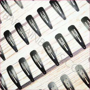 Black Matte Snap Clips 40 pack