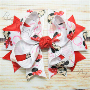 3.5 inch Bubble Minnie Red character Bow