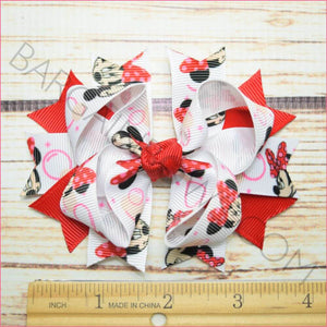 3.5 inch Bubble Minnie Red Character Bow from Bargain Bows