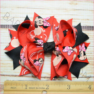 3.5 inch Bubble Minnie Black Character Bow from Bargain Bows