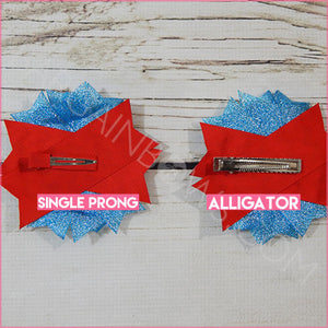 The Cat In The Hat Boutique Bow (Single Prong, Alligator Clip)