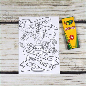 Birthday Coloring Box Gift Bow Box | Lulu Edition
