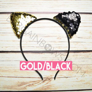 Can Ears Headbands (Gold/Black)