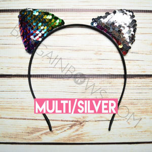 Cat Ears Headbands (Multi/Silver)