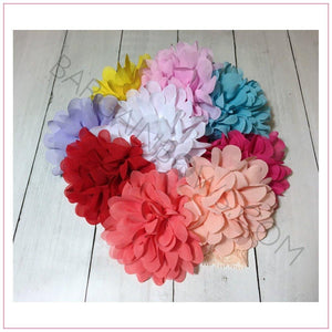 Chiffon Flower Lace Headband, headbands BargainBows