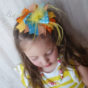 Chirpy Feather Boutique Bow