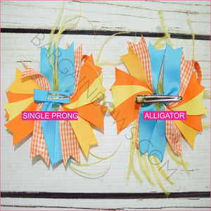 Chirpy Feather Boutique Bow, hair bows BargainBows