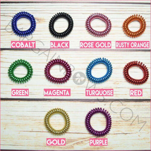 Cord Hair Ties Glitter Colors