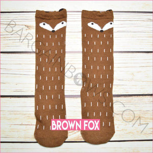 Critter Socks (Brown Fox)
