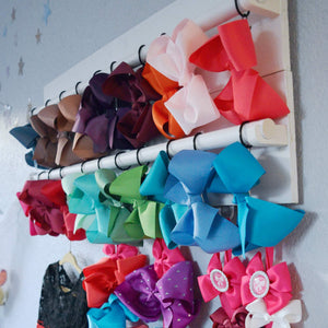 Double Panel Hair Bow Holder Wall Display | 30 x 12