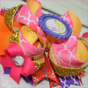 Easter Prayer Boutique Bow, hair bows BargainBows