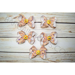 4 inch Emoji Hair Bow Collection for Cute Girls - Bargain Bows