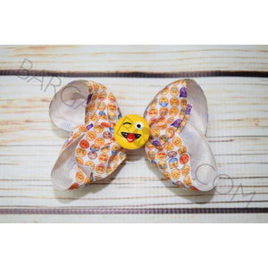 4 inch Emoji Hair Bow - Bargain Bows