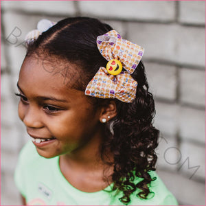 4 inch Emoji Hair Bows for Cute Girls - Bargain Bows