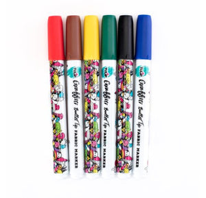 Bullet Tip Fabric Markers: Rainbow, 6 Pieces