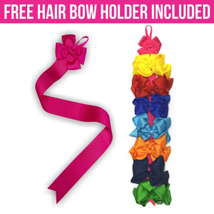 Double Stacked 6 inch Simply Sweet Hair Bow Bundle -Alligator Clip