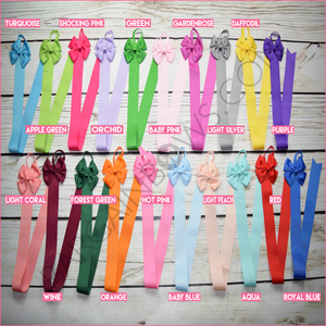 Hair Bow Holder Basic Colors