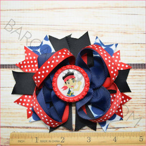 Jake the pirate Boutique Bow