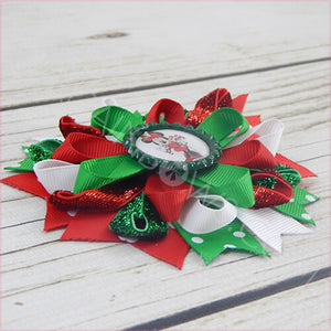 Minnie Candy Cane Boutique Bow