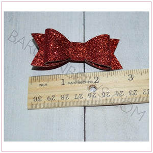Mini Glitter Bow, hair bows BargainBows