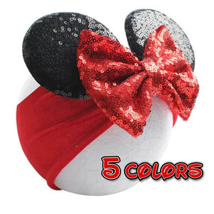 Minnie Mouse Ears Turban headband | Baby