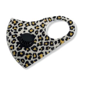 Adult Cheetah Mask w/valve