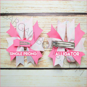 3.5 inch Pink Dumbo Character Bow (Single Prong, Alligator Clip)