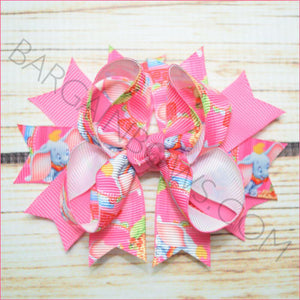 3.5 inch Pink Dumbo Character Bow from Bargain Bows