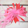 Pink feather Boutique Bow