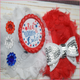 Red, White and Cute Boutique Headband