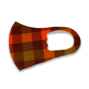 Pumpkin Plaid Soft Mask | Adult & Youth