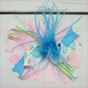 Spring Feather Boutique Bow, hair bows BargainBows