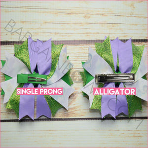Tinkerbell and Fairies Boutique Bow (Single Prong & Alligator Clip)