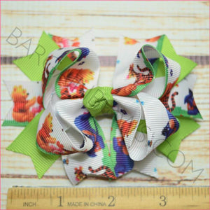 Winnie the Pooh Character Bow in 3.5 inch Size
