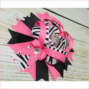 Zebra Boutique Bow, hair Bows BargainBows