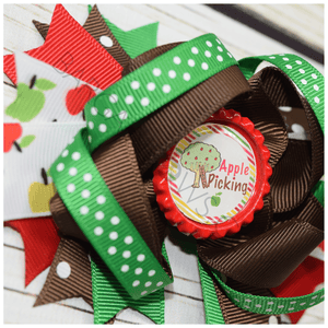 Apple Picking Boutique Bow, hair bows BargainBows